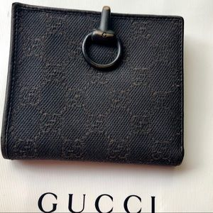 GUCCI GG Guccissima Canvas &Leather Compact Wallet